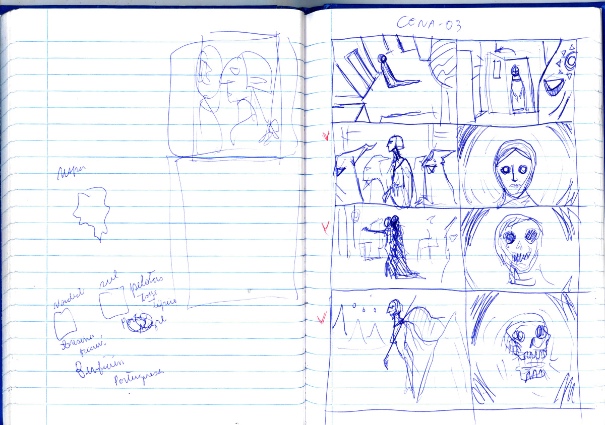 Medea Sketchbook storyboards