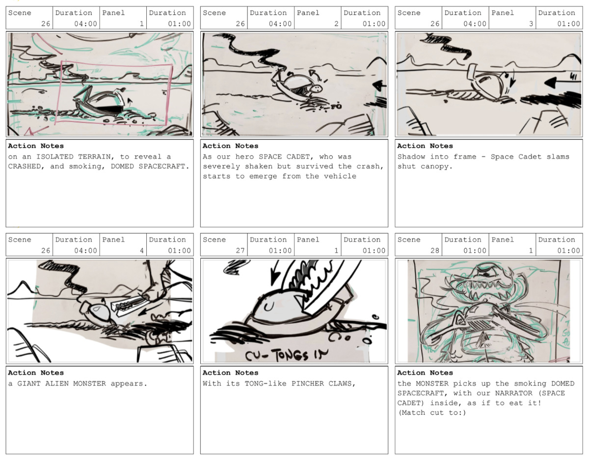 Rough Storyboards