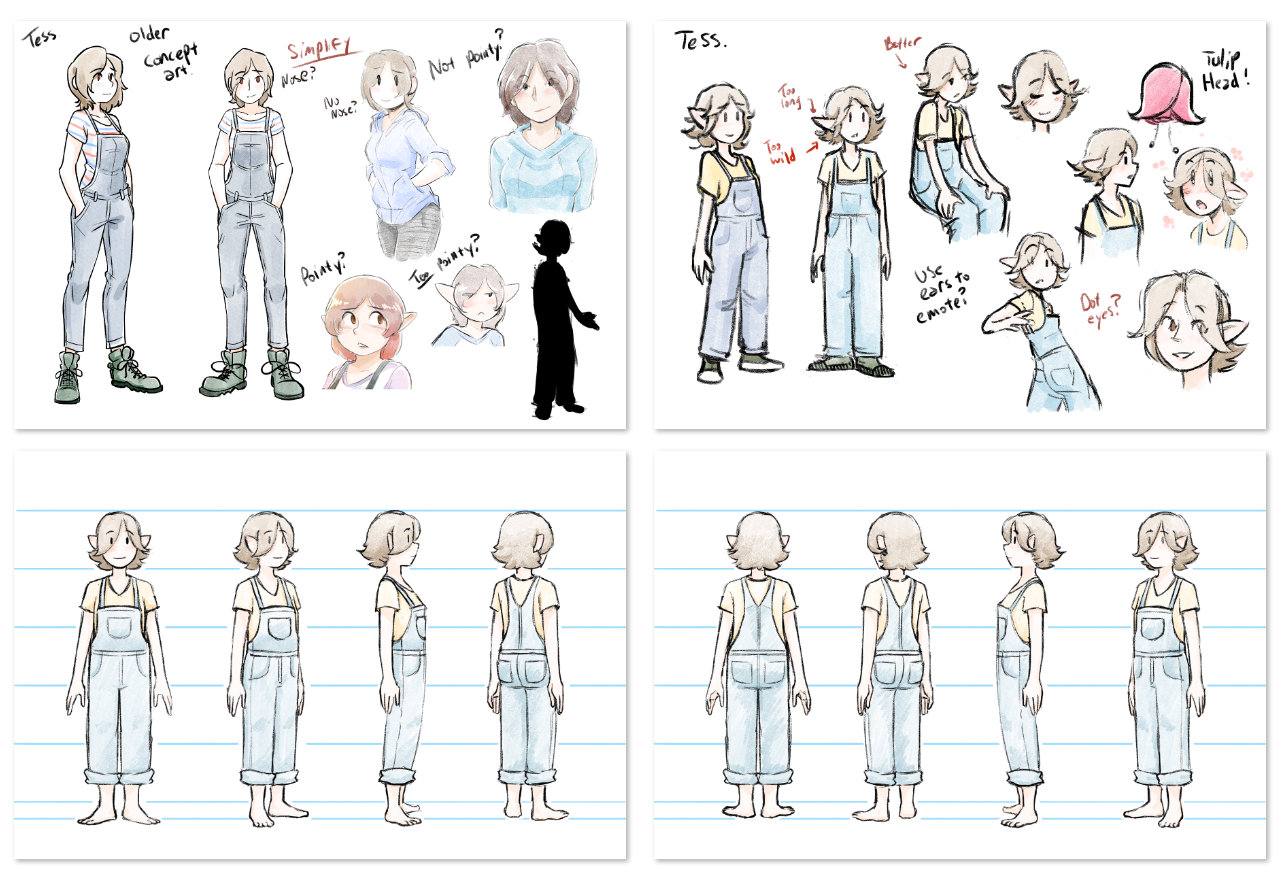 Tess Character Design