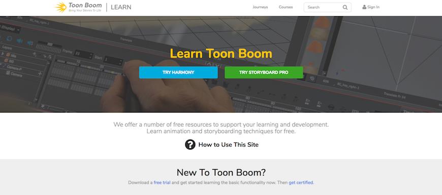 Toon_Boom_Learn_Portal_home