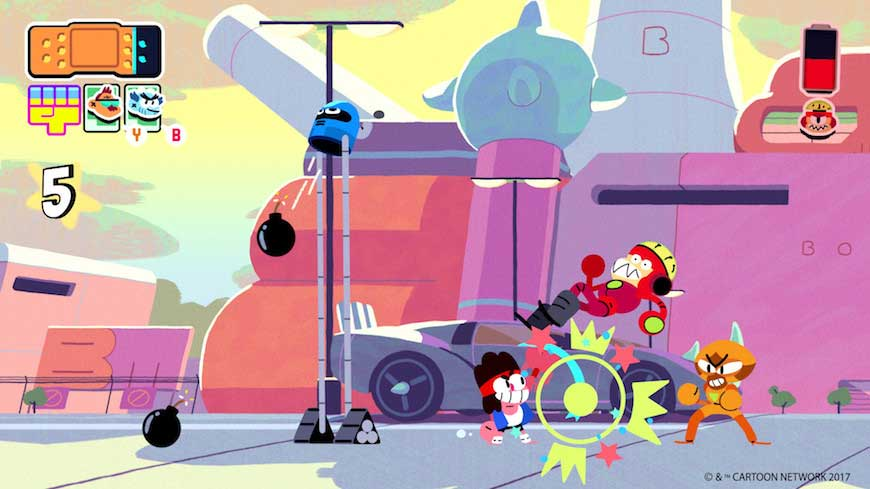 A still from the Cartoon Network's OK KO!