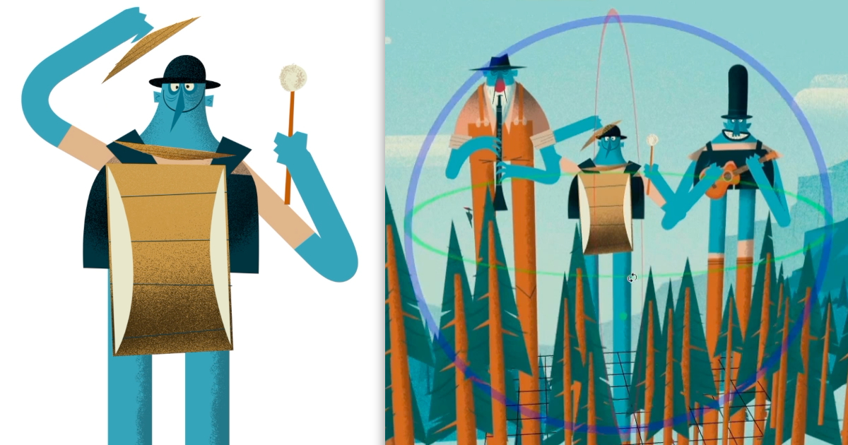 Mark Borgions offers perspective on animating illustrations in Harmony